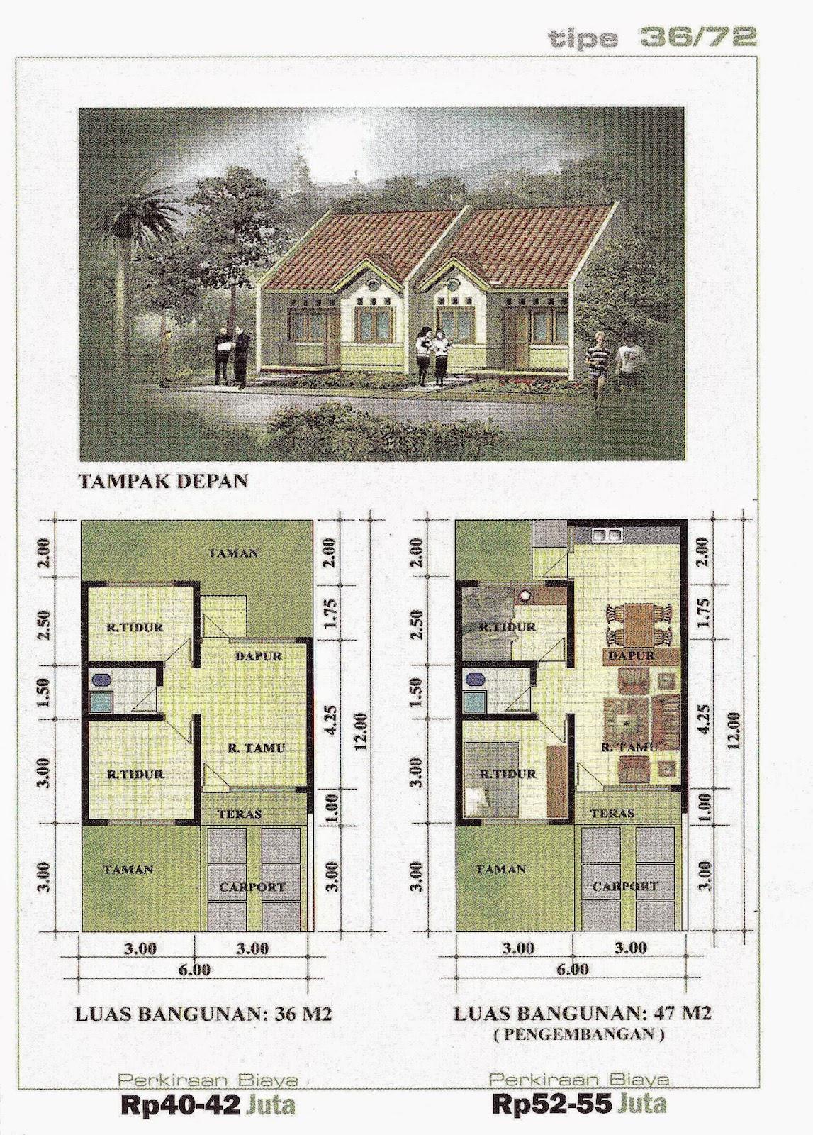 Denah Dan Desain Rumah Gallery Taman Minimalis