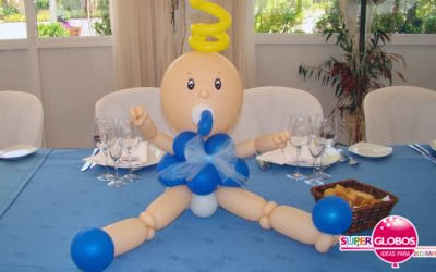 Decoracion para baby shower con globos