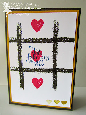 stampin up, work of art, something for baby, love, tic tac toe