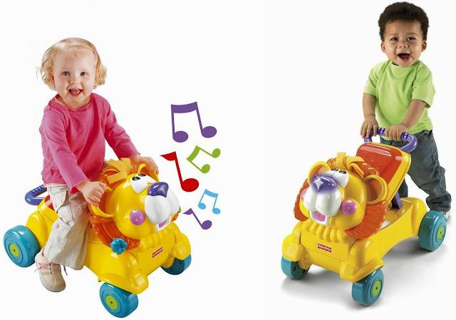 Xe tập đi Sư tử FP L4511 với âm nhạc và ánh sáng luôn luôn khuyến khích, động viên bé cố gắng