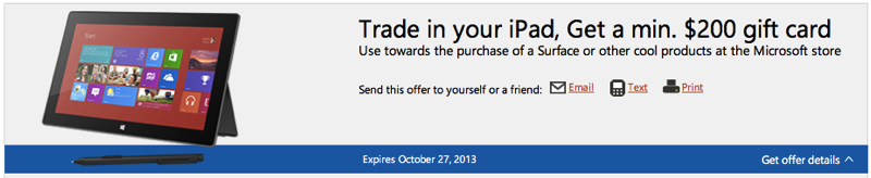 Microsoft Retail Stores Offering at Least $200 for iPad Trade-In