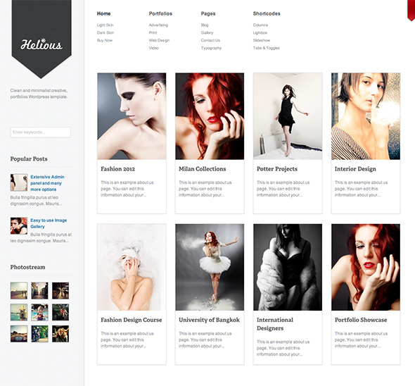 Helious Creative WordPress Theme for Designers
