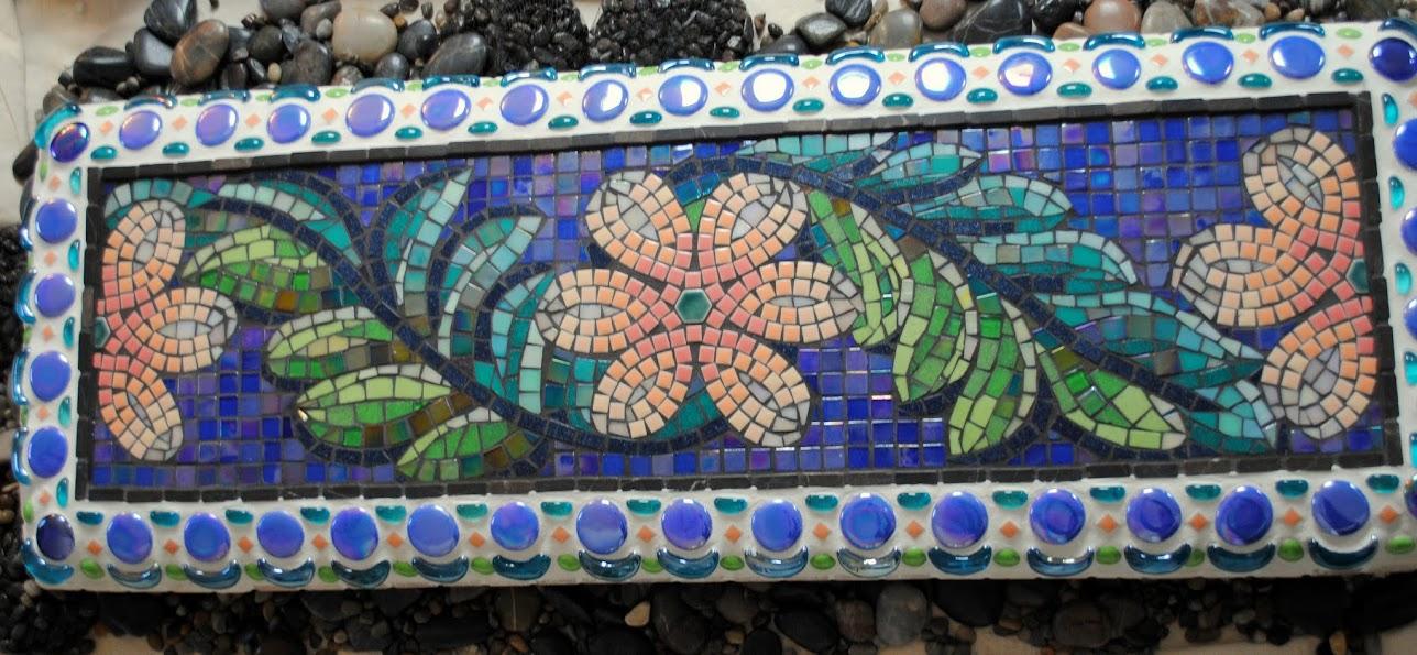 Super Mosaic Garden Bench Garden Party Beads Pieces Ibusinesslaw Wood Chair Design Ideas Ibusinesslaworg