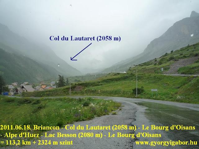 Györgyi Gábor & Francia Alpok kerékpártúra, Col du Lautaret