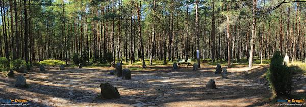 Kamienne Kręgi Gotów w Węsiorach - panorama kręgu
