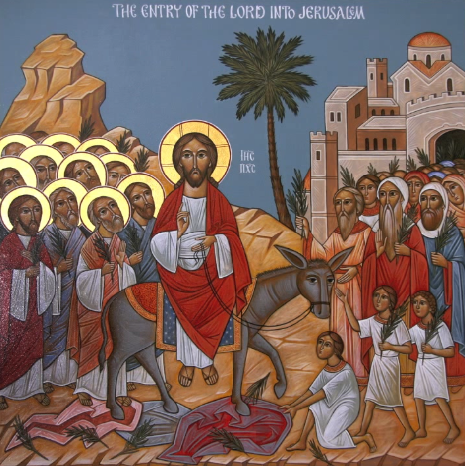 Image result for entry into Jerusalem Icon coptic