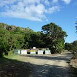 Garbage bins at Melaleuca camping ground