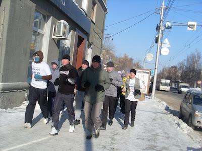 23-го февраля по всей России прошли акции здоровой молодёжи - Новосибирск