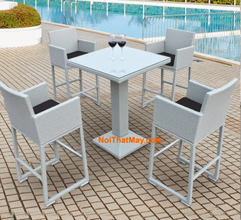 Outdoor Wicker Bar Set Minh Thy 808