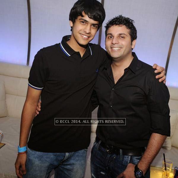 Shiven Rajore and Karan Agarwal during a DJ party in the city.