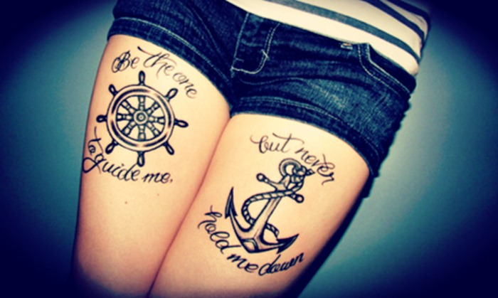 tattoos on thig for girls