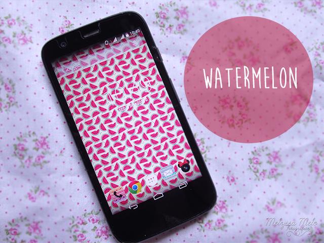 papel de parede celular smartphone wallpaper melancia cute