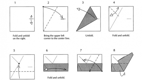 How To Fold An Origami Square Base - Folding Instructions ... | 331x590