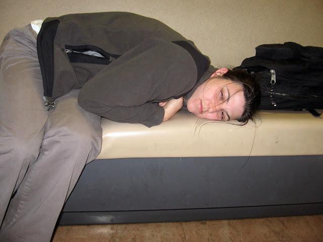 sleepy on ferry