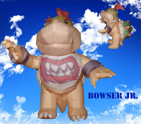 Bowser Jr. Papercraft