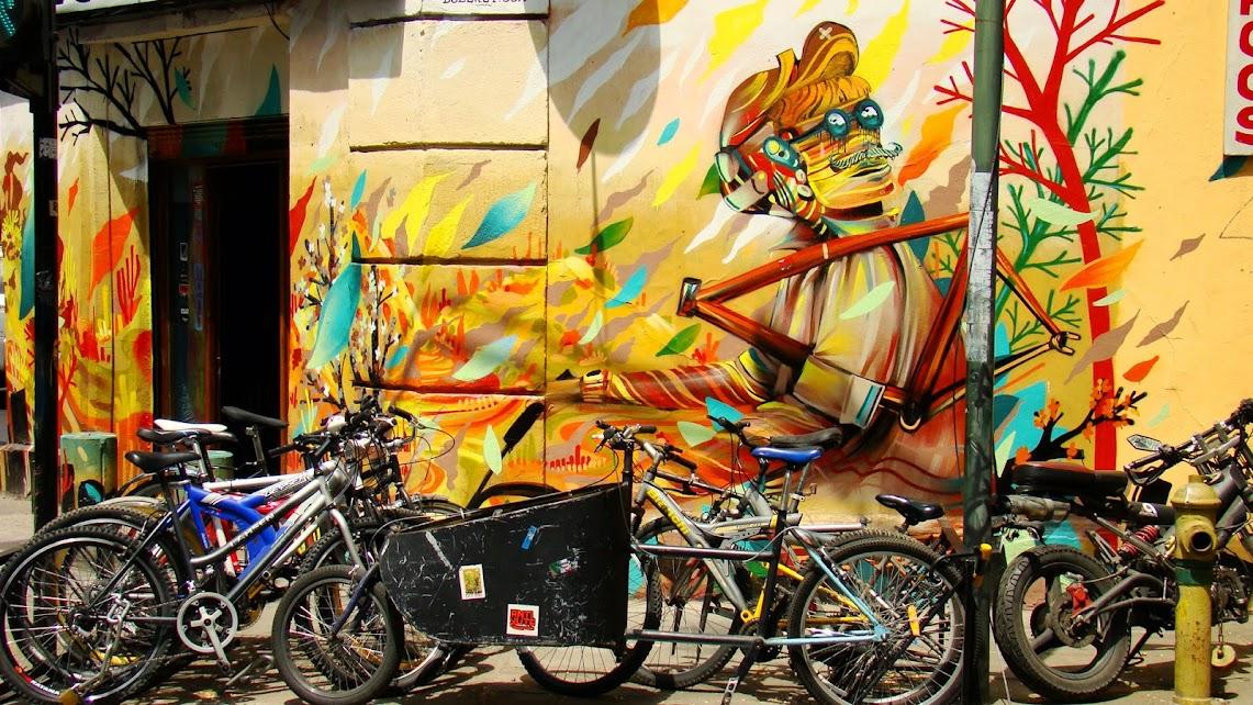 La bici en Santiago de Chile