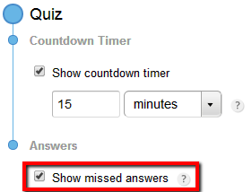 123FormBuilder Quiz show missed answers
