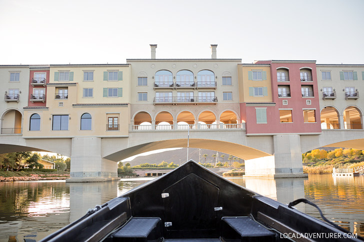 Kissing under the Ponte Vecchio Bridge // Lake Las Vegas Gondola Ride.