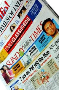 in a newspaper