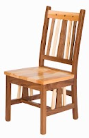 Eastern Dining Chair in Mixed Wood, Natural Walnut and Hickory
