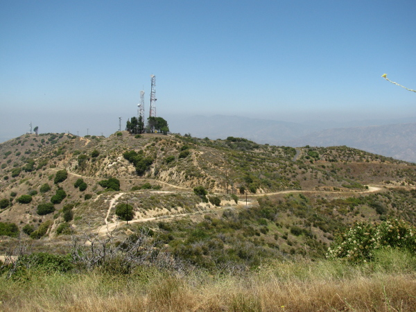 along the top of the Verdugos