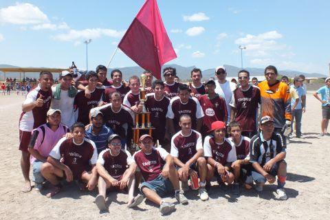Equipo Yaquis del torneo municipal de Futbol Soccer