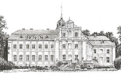 Pałac w Gawronkach – stan przed 1945 r.