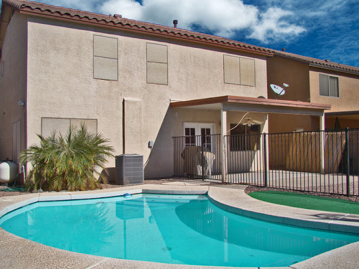 Picture depicting the backyard with pool in Litchfield Park real estate