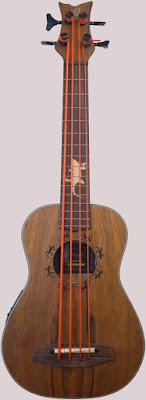 Ortega Lizard Electro-Acoustic Bass Baritone Ukulele Corner