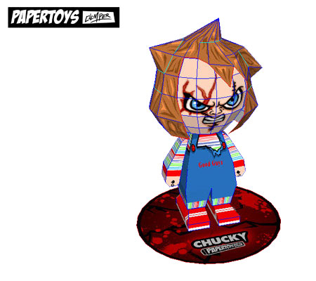 Child's Play Chucky Paper Toy
