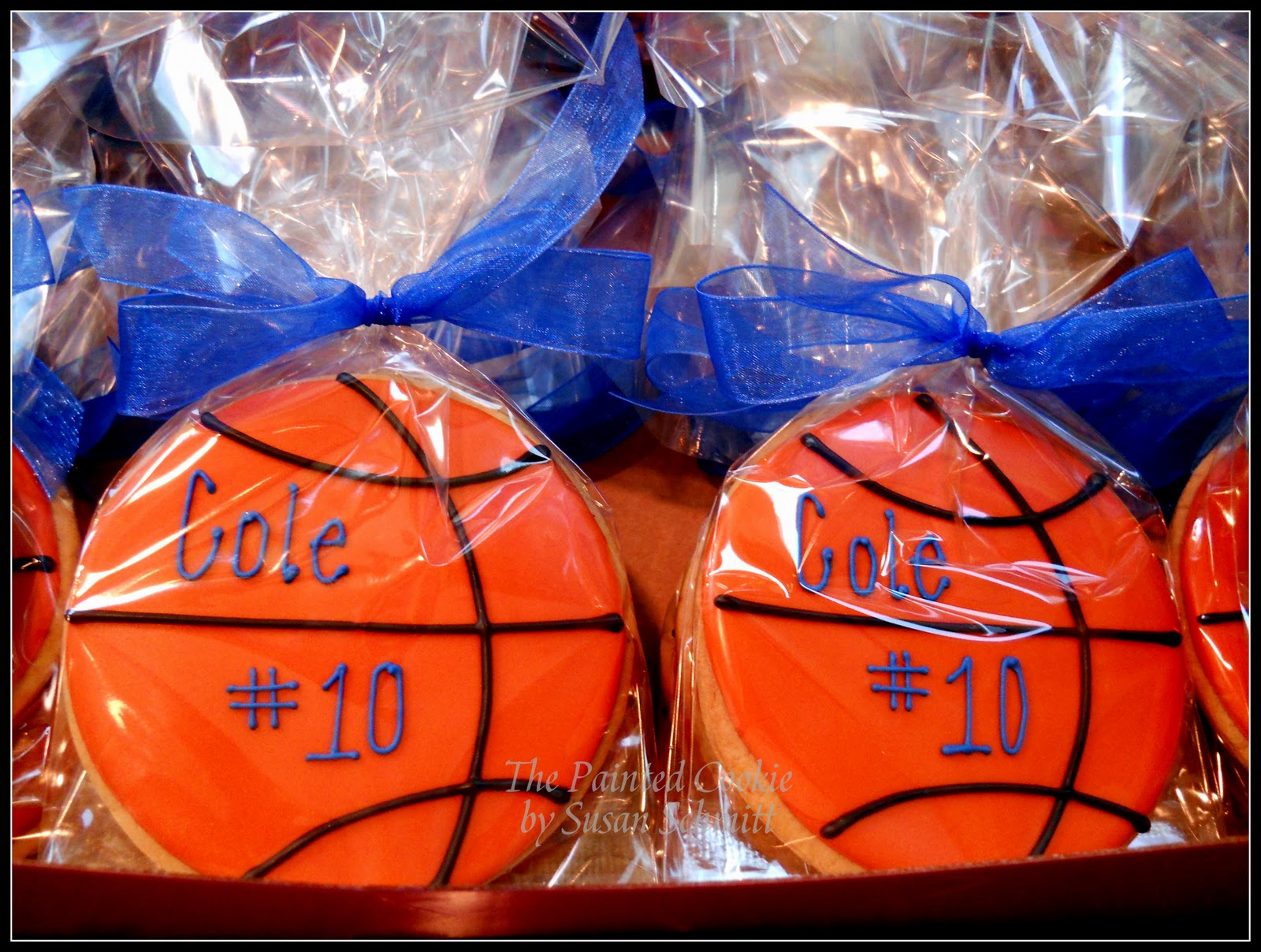 The painted cookie basketball birthday favors for Basketball craft party ideas