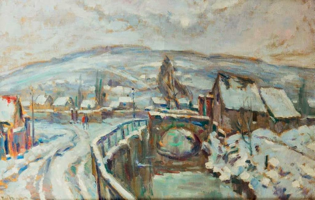 Robert Antoine Pinchon - Robec Under Snow Near Rouen.