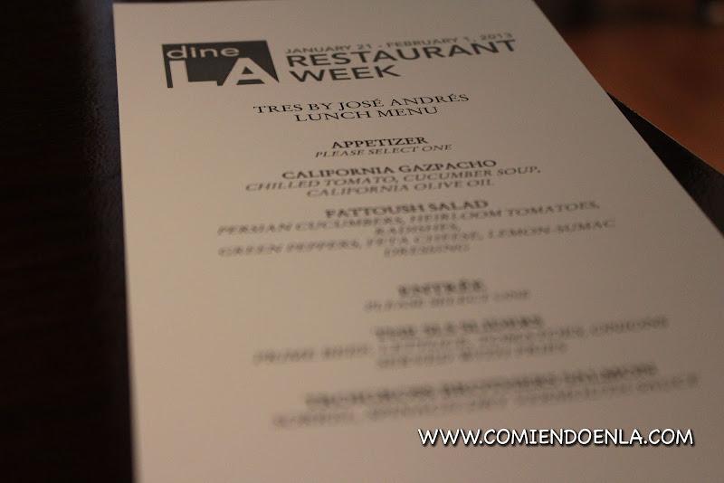 DineLA menu