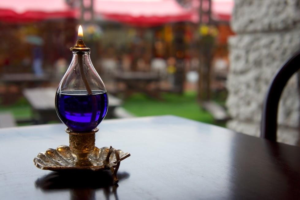 チュリップ館のランプ