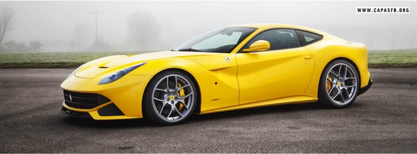 Capas para Facebook Ferrari F12 Amarela