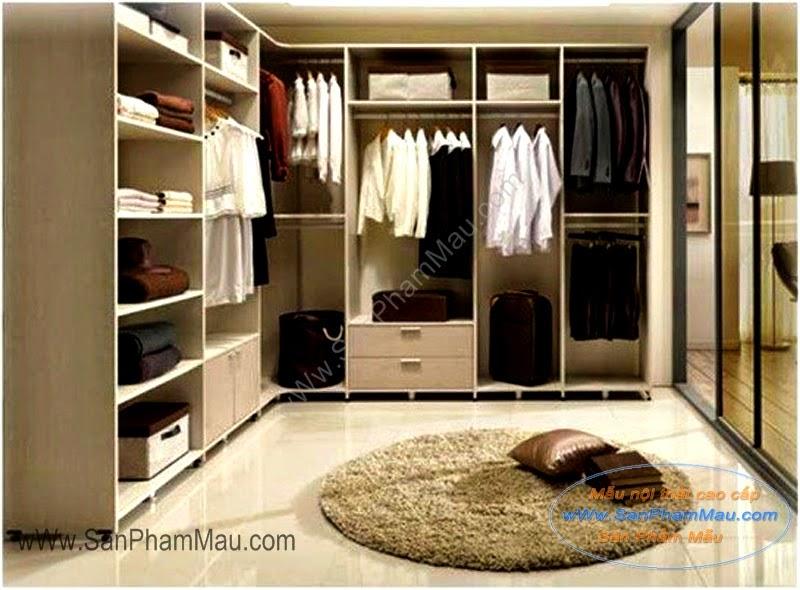 Tủ quần áo trong phòng thay đồ