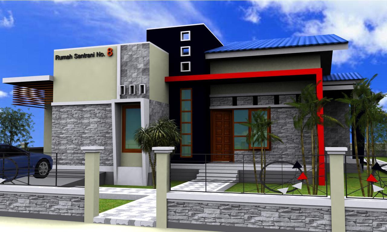 68 Desain Rumah Minimalis Warna Merah | Desain Rumah Minimalis Terbaru