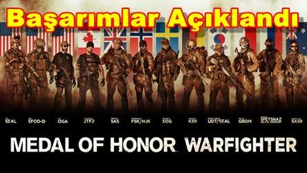 MoH: Warfighter Başarımlar Açıklandı