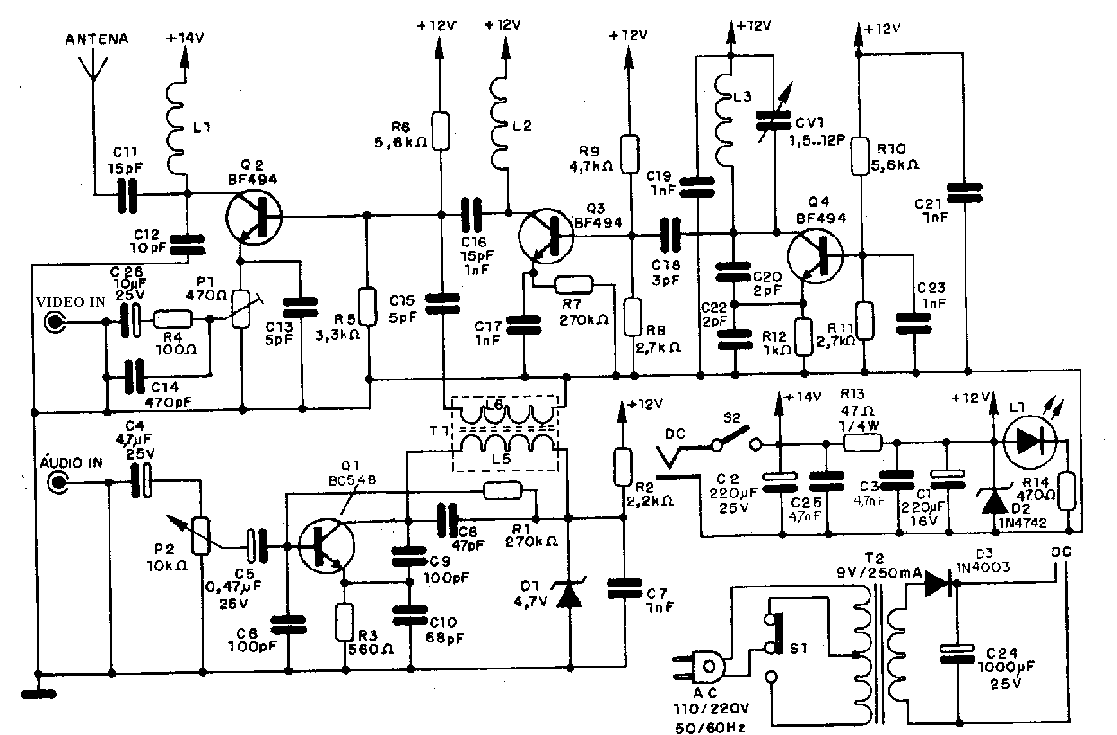 Circuito Eletronica : Hobby eletrÔnica micro transmissores fm am