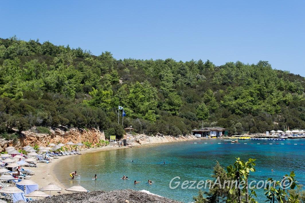 Yalıçiftlik'teki Bodrum Park Resort'un güzel denizi ve plajı