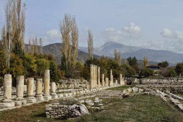Scenic South Agora of Aphrodisias and its irrigation reservoir