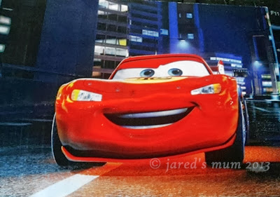 postcards, lightning mcqueen