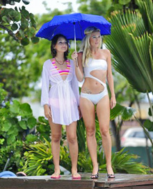 BVI Spring Regatta- rainy swim suits show
