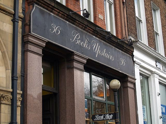 Books upstairs. From 28 Best Bookshops in Dublin