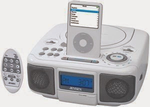 Jensen JIMS-210-W Universal iPod Docking Digital Music System with AM/FM Stereo Radio and CD Player with Remote (White)