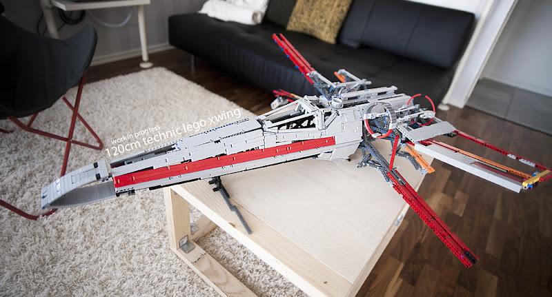 120cm Technic X-wing, by drakmin