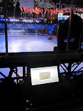 The Microsoft Surface promotion at 30 Rock highlights NBC News, which includes the Electnext candidate matcher