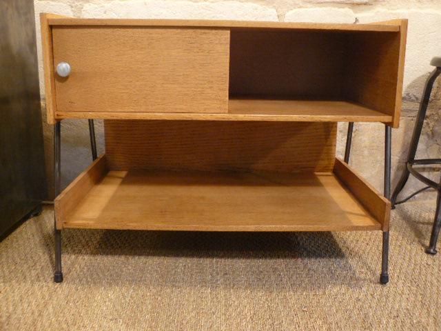meuble bas platine disque 60 39 s mai. Black Bedroom Furniture Sets. Home Design Ideas