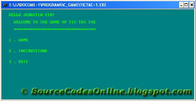 C Program For Tic Tac Toe Game Source Code Solutions