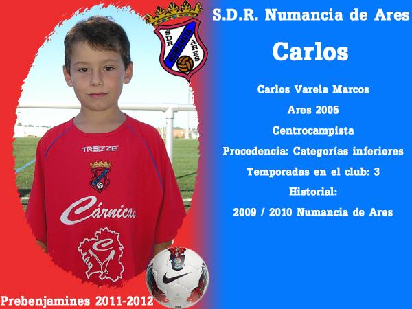 ADR Numancia de Ares. Prebenxamíns 2011-2012. CARLOS